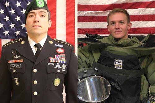 9cae474b6 Sgt. 1st Class Will D. Lindsay (left) and Spc. Joseph P